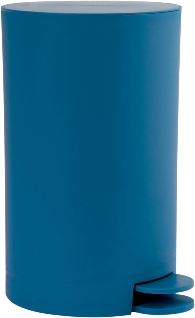 KW Clappe Pattumiera da bagno//cucina in plastica con coperchio basculante capacit/à 5 l Deep Blue