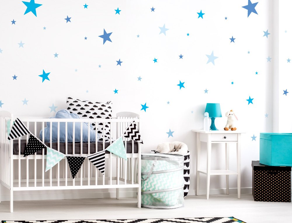 I-love-Wandtattoo WAS-10099 Wall stickers Kids Blue stars for boys Sticker Wall Decal Boy Girl