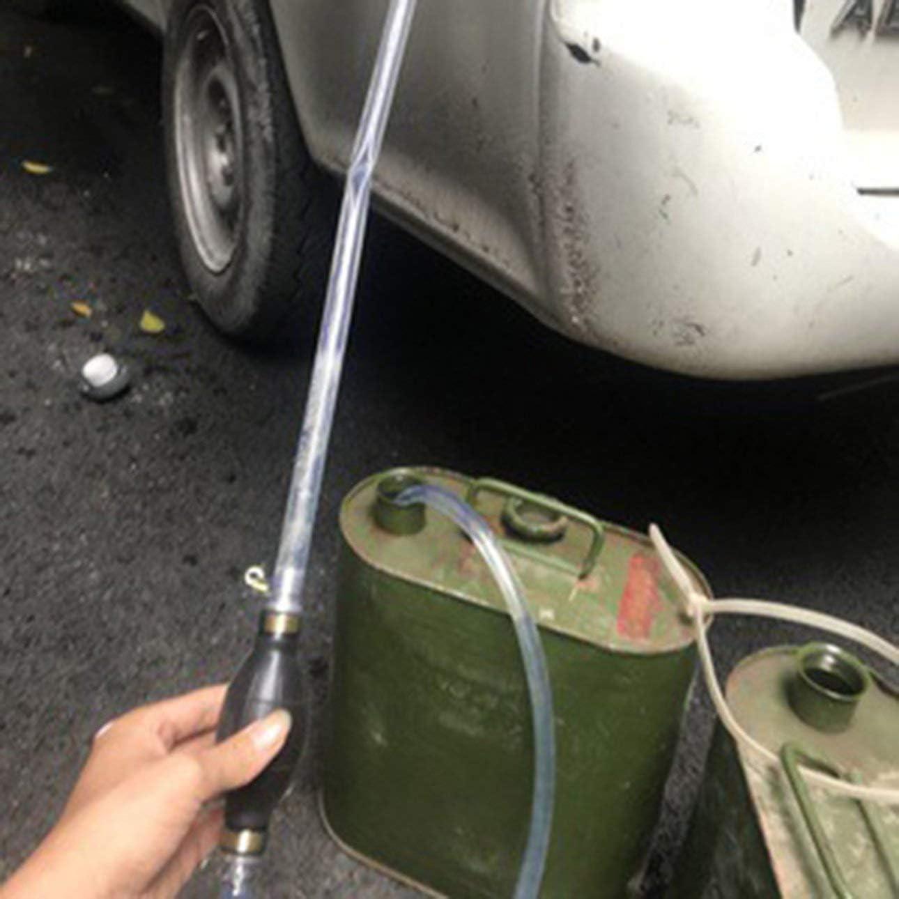 Pudincoco Pompe daspiration manuelle Eau de pompage manuelle Essence Eau Pompe Tuyau Noir