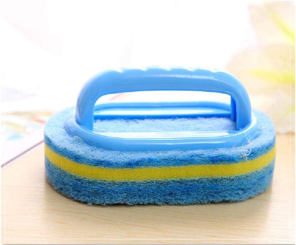 IETONE Mini Cleaning Brush Bathtub Brush Plastic Kitchen Bathroom Toilet Glass Wall Sponge Sweep Small Shovel And Home Blue