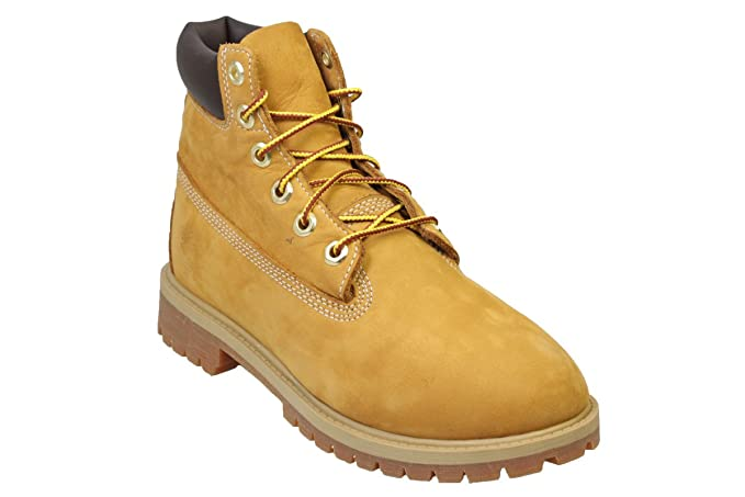 sale retailer 5e874 01b19 Timberland 6 Premium Wheat Nubuck Juniors Boots Size 5