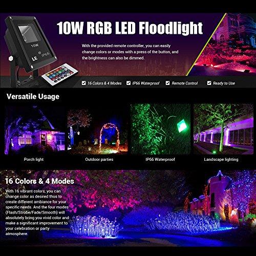 LE-Foco-LED-Multicolor-Exteriores-10W-Modos-de-luz-Decoracin-de-jardn-patio-Navidad