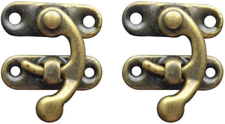 Holz Schmuck Box Dekoration Antik Bronze Ton rechts Latch Hook mit Schrauben DIY Tasche Haspe 50 S/ätze