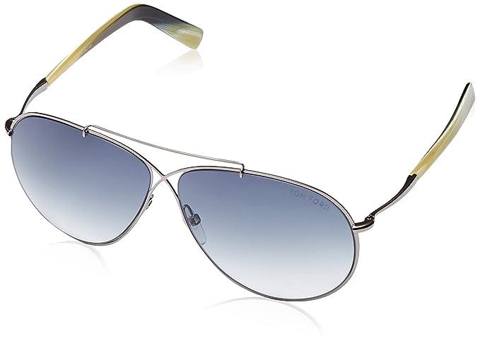 c0833204cad Tom Ford Women s Eva Aviator Sunglasses in Matte Light Ruthenium FT0374 15B  61