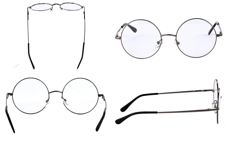 deea1dce91 Agstum Retro Round Prescription ready Metal Eyeglasses Frame  (Large Size )  EF-