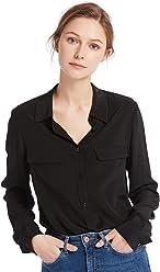 0d0bc09d14c559 LilySilk Women s 100% Silk Blouse Long Sleeve Ladies Shirts 18 Momme Silk