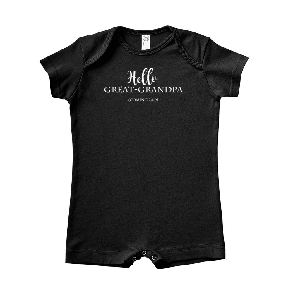 Coming 2019 Announcement Baby Romper Hello Great-Grandpa