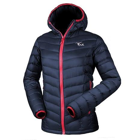 TAK Giacca da Donna Piumino di Inverno Winter Cappotto Manica Lunga Incappucciato