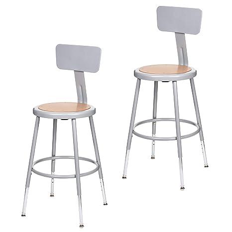 Marvelous Amazon Com 2 Pack Oef Furnishings Height Adjustable Grey Ibusinesslaw Wood Chair Design Ideas Ibusinesslaworg