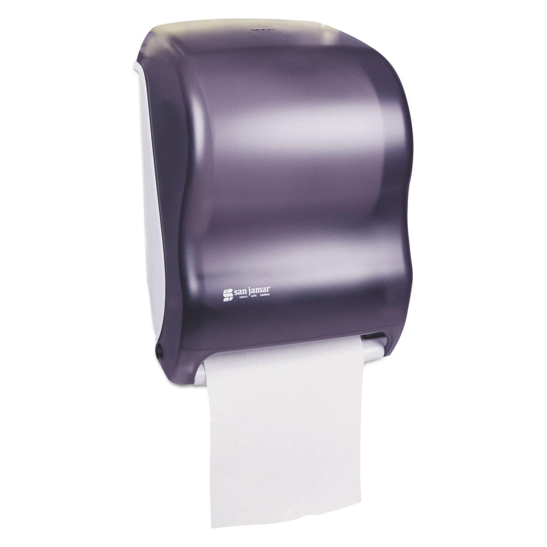 San Jamar T1300TBK Tear-N-Dry Classic Hands Free Roll Towel Dispenser - Black Pearl