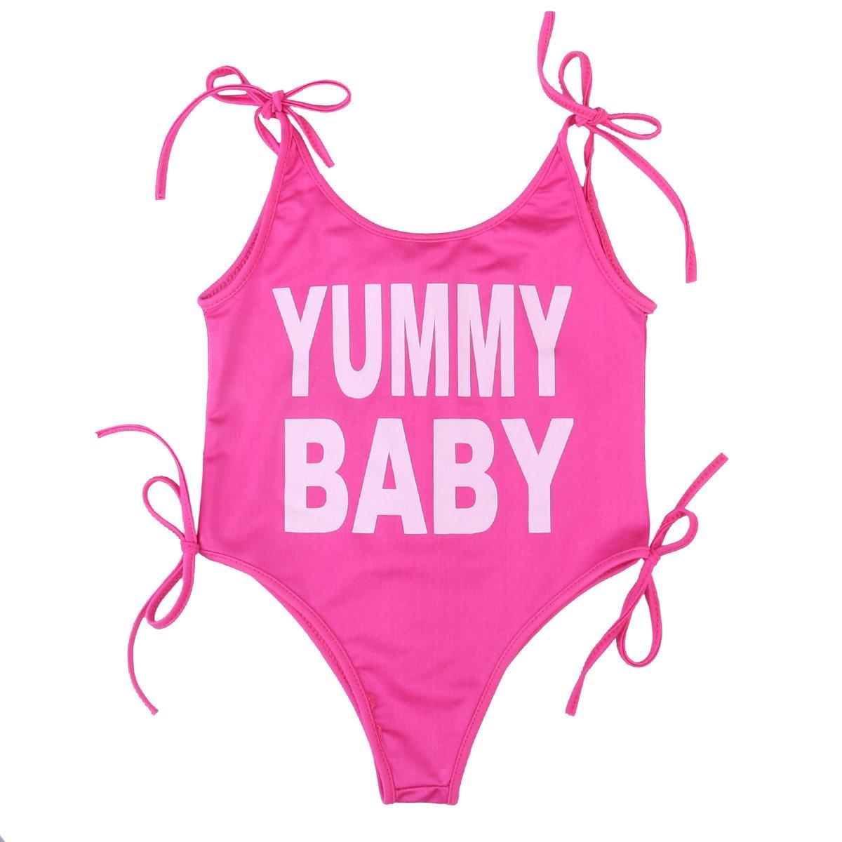 Lily.Pie Mom Baby Girls Matching Swimwear Outfits Women Bikini Beachwear Kids Bathing Suits