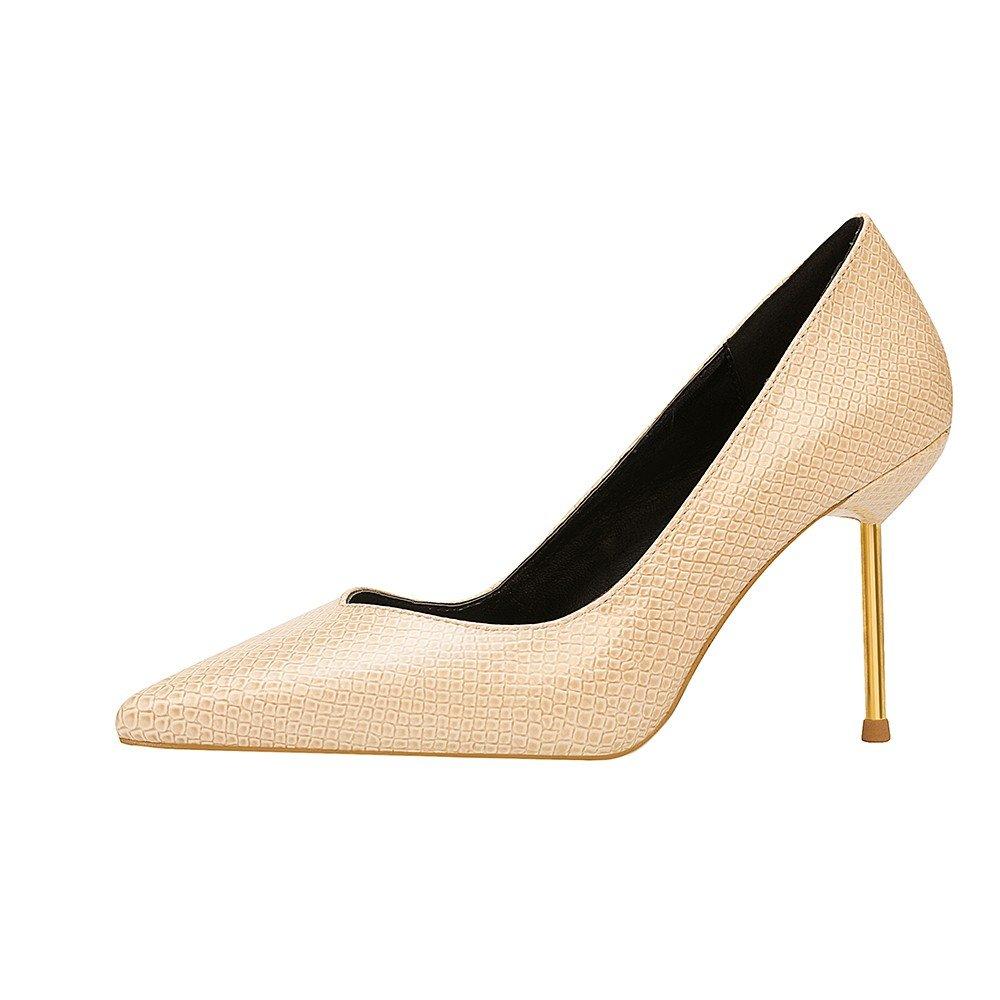 Damen Pumps High Heel-Schuhe und High Heel Heel Heel Sharp Einzel Schuhe ec9124