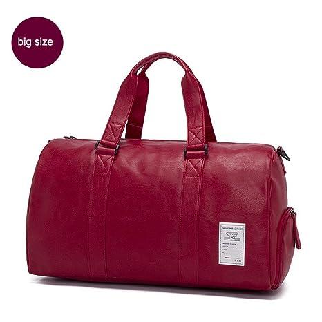 02806fbe2660 Amazon.com: Pu Leather Gym Bag FeSport Shoe Bag For Women Fitness ...