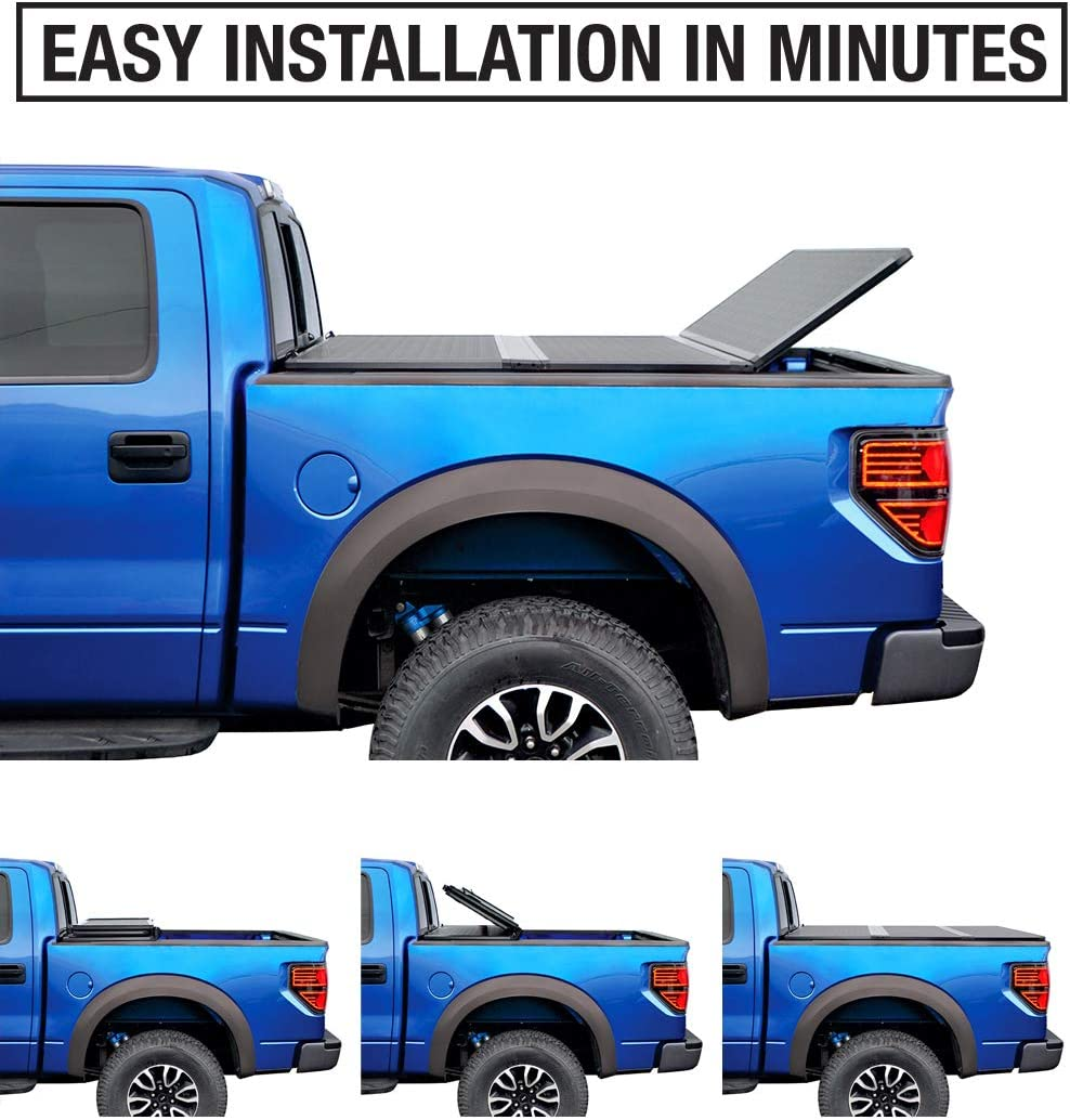 Style Side 5.5 Bed|TG-BC5F1016 Tyger Auto TG-BC5F1016 Black 1 T5 Alloy Hard Top Tonneau Cover for 2004-2008 Ford F-150; 2005-2008 Lincoln Mark LT 1 Non-Carb Compliant