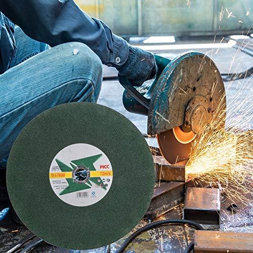 Fictor 6個超薄いグリーン砥石樹脂サンディング研削ディスク(400×2.5×32ミリメートル)