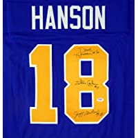 $119 » Hanson Brothers Slapshot Autographed Chiefs Blue Jersey With 3 Signatures Including Steve Carlson, Jeff Carlson & Dave Hanson PSA/DNA…