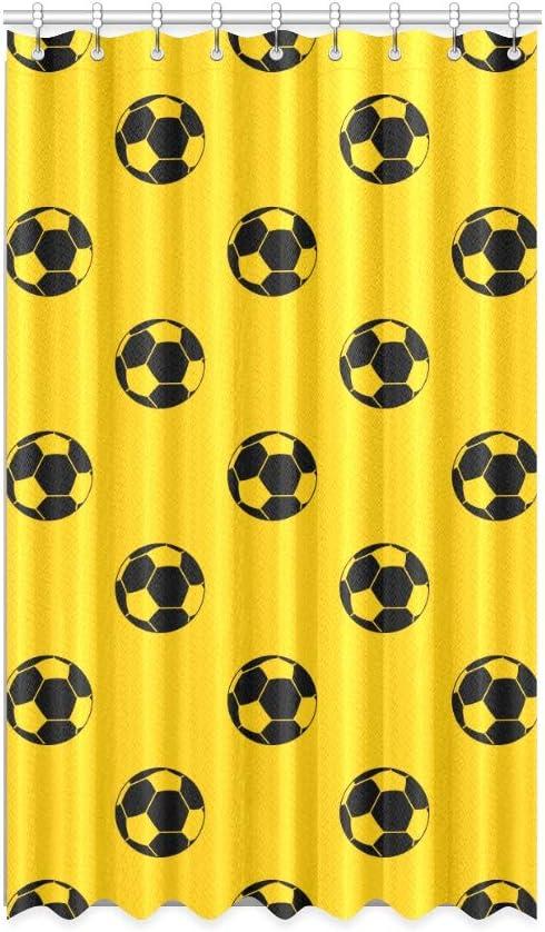 Cortinas opacas para el dormitorio de los niños Fútbol Fútbol Jugar a la pelota Cortinas opacas para el dormitorio de las niñas 50 X 84 pulgadas de una pieza para puertas corredizas de vidrio para p