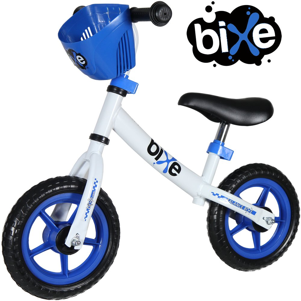 Fox Air Beds 10'' Balance Bike for Kids and Toddlers - No Pedal Push and Stride Walking Bicycle (Blue)