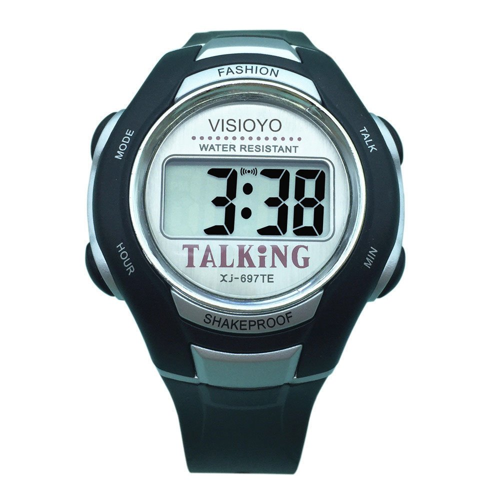 visioyo Inglés Talking reloj Digital Sports reloj con alarma 697te