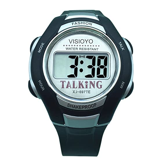 visioyo Inglés Talking reloj Digital Sports reloj con alarma 697te: Amazon.es: Relojes