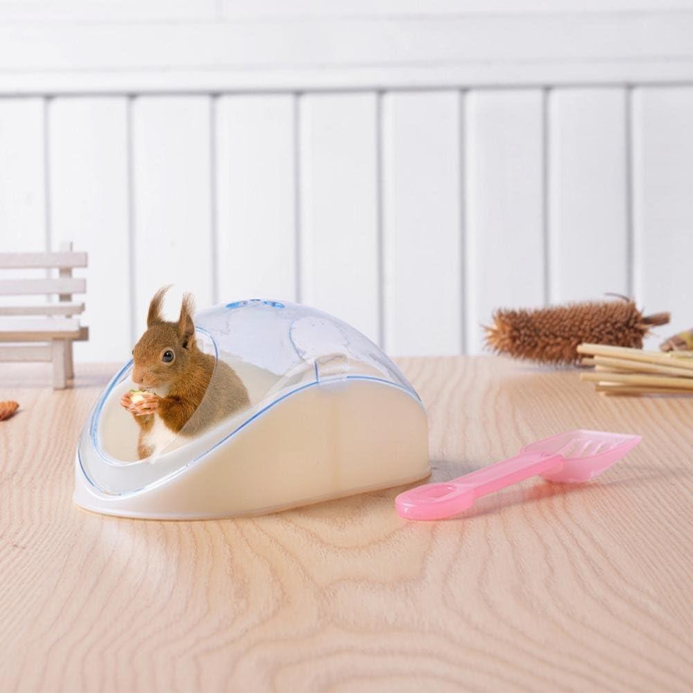 Lembeauty Hámster de plástico para habitación de Arena y baño, Caja de Inodoro con Pala para hámster Sirio, pequeño Animal (Color al Azar)