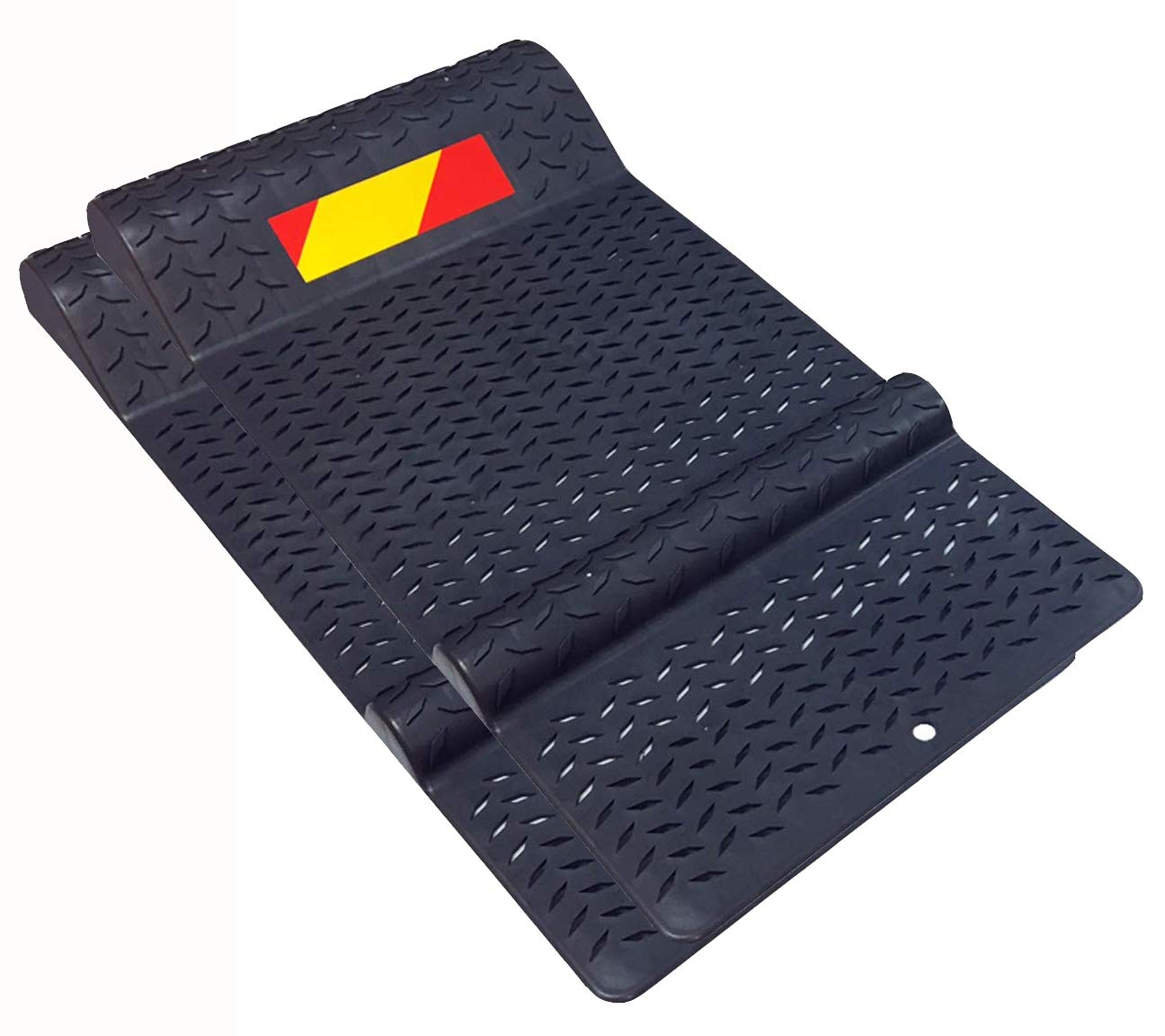 Electriduct Pair of Plastic Park Right Parking Mat Guides for Garage Vehicles, Antiskid Car Safety - Black by Electriduct (Image #1)