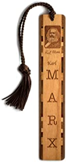 product image for Personalized Karl Marx Photo with Signature - Engraved Wooden Bookmark with Tassel - Search B01M4IZORN for Non-Personalized Version