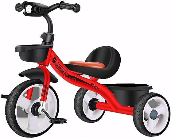 SONG Triccilos Bebes evolutivo Triciclo Bicicleta De Niño con La Música De Iluminación Juguetes For Niños 1-3-2-6 Años De Edad, Asiento De Coche De Bebé Suave Mejor Regalo (Color : Red): Amazon.es: