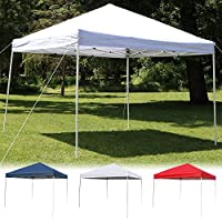 Sunnydaze Quick-Up Instant Canopy Event Shelter with Carrying Bag, Straight Leg, Multiple Options
