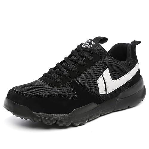 Les Chaussures de Sport de Cheville de Grande Taille de Baskets de Mode Lacent la Semelle Anti-Dérapante jusqu'à la Taille 47EU,Chaussures de Cricket (Color : Brown, Size : 38 EU)