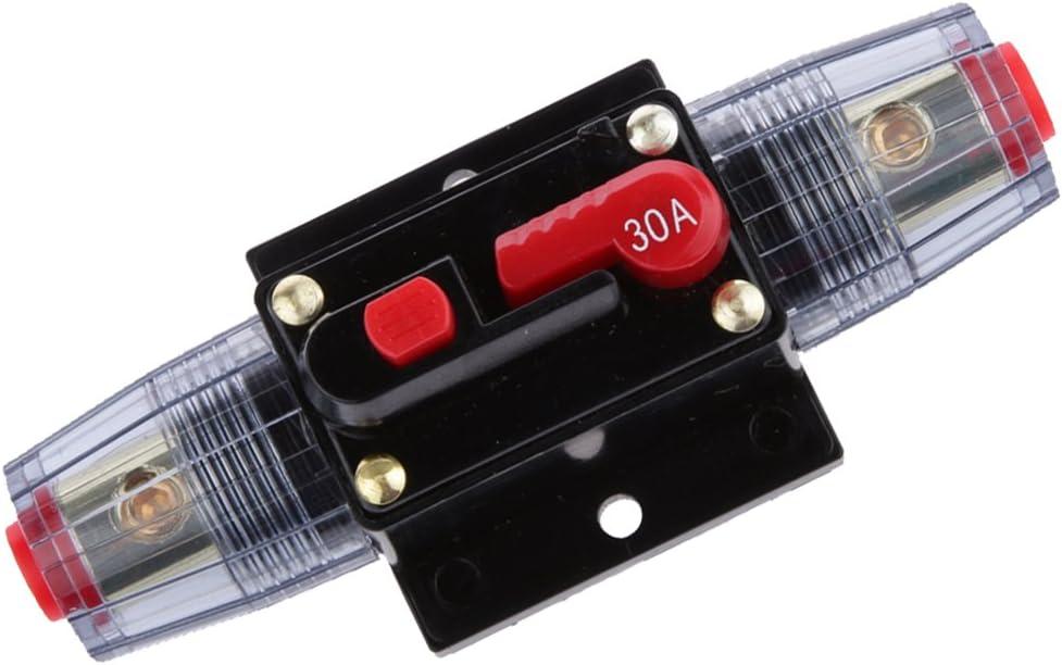 12v-24v Auto Disjoncteur /étanche Amp/ères Commutateur De R/éarmement Manuel En Ligne 250A SKCB-01