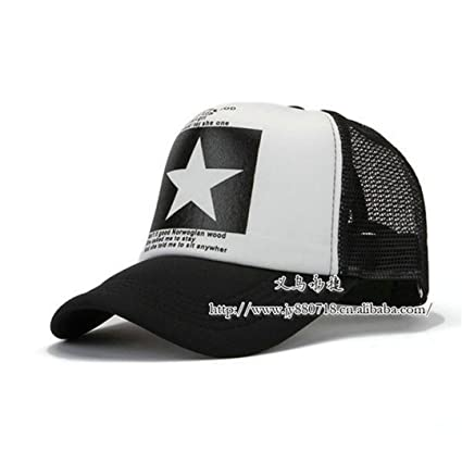 Amazon.com: SUENHAT Fashion Pointed Star Brand Baseball Cap Outdoor Baseball Hat Breathable Men&Women Summer Mesh Cap Baseball-Caps Gorras Black: Sports & ...