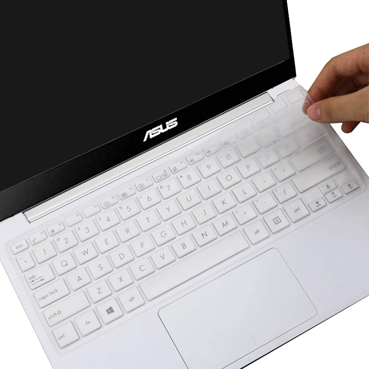 "Keyboard Cover for ASUS VivoBook L203MA M203MA 11.6"" Laptop Premium Ultra Thin Keyboard Protective Skin, US Layout -Clear"