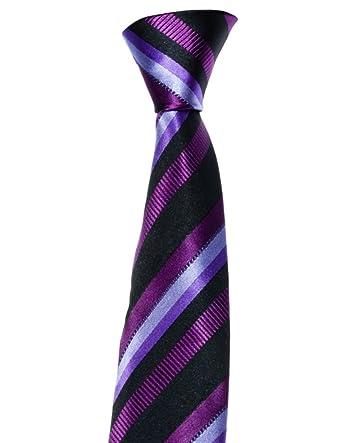 corbata de Mayo Lando, con rayas, negro - Lila: Amazon.es: Ropa y ...