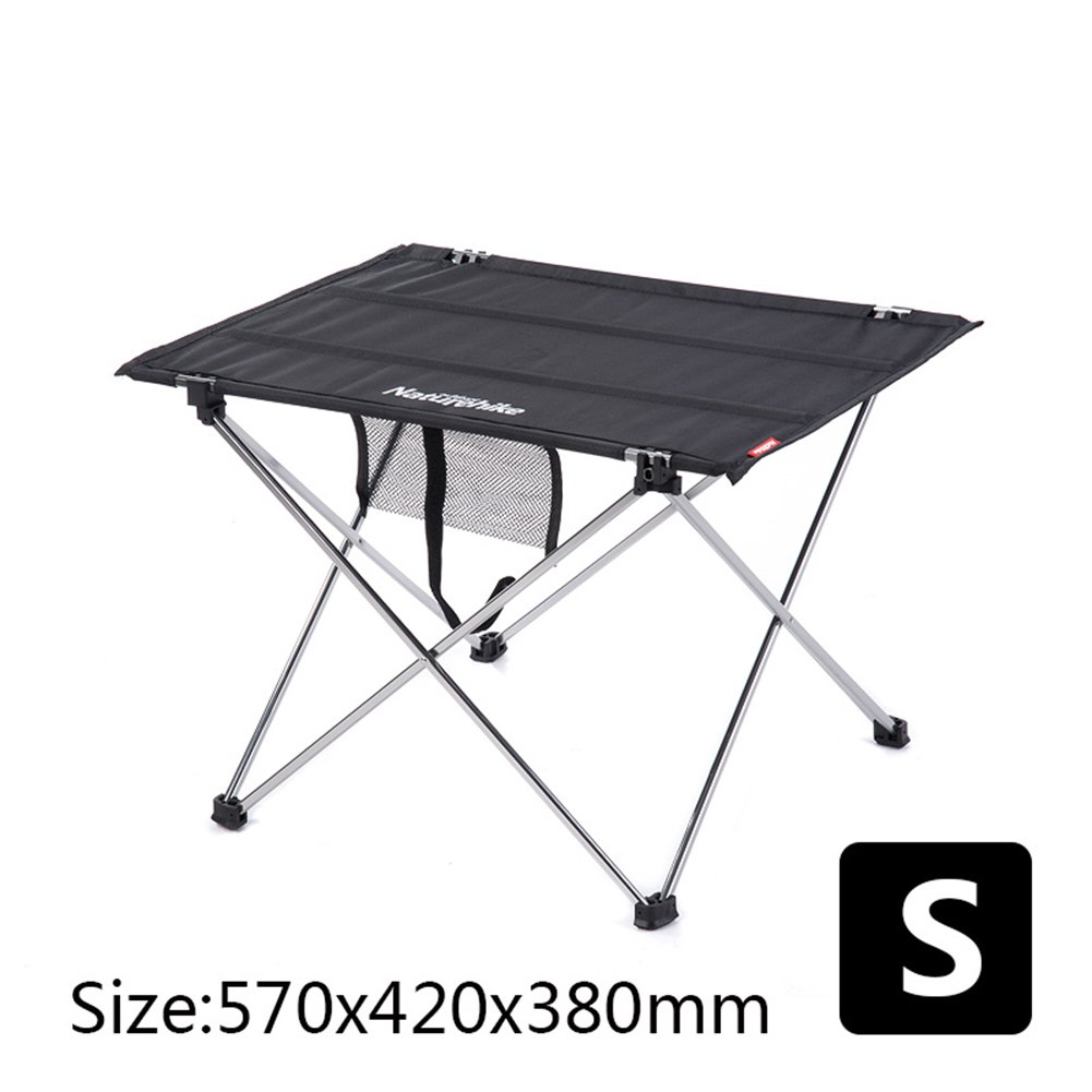 QIANGDA Camping Foldable Table Roll-up In A Bag Easy To Carry Aluminium Alloy Portable Light Weight, 2 Colors, SL Optional (Color : Black, Size : S)