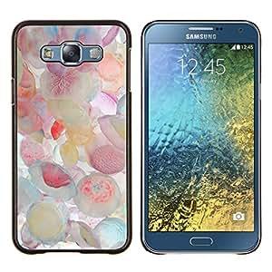 LECELL--Funda protectora / Cubierta / Piel For Samsung Galaxy E7 E700 -- Pastel medusas Colores Mar --