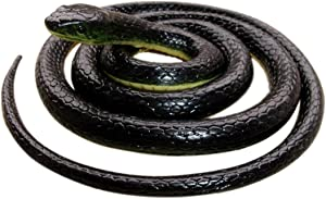 Realistic Rubber BlackSnake 52 Inch Long Scare Toy by Brandon super