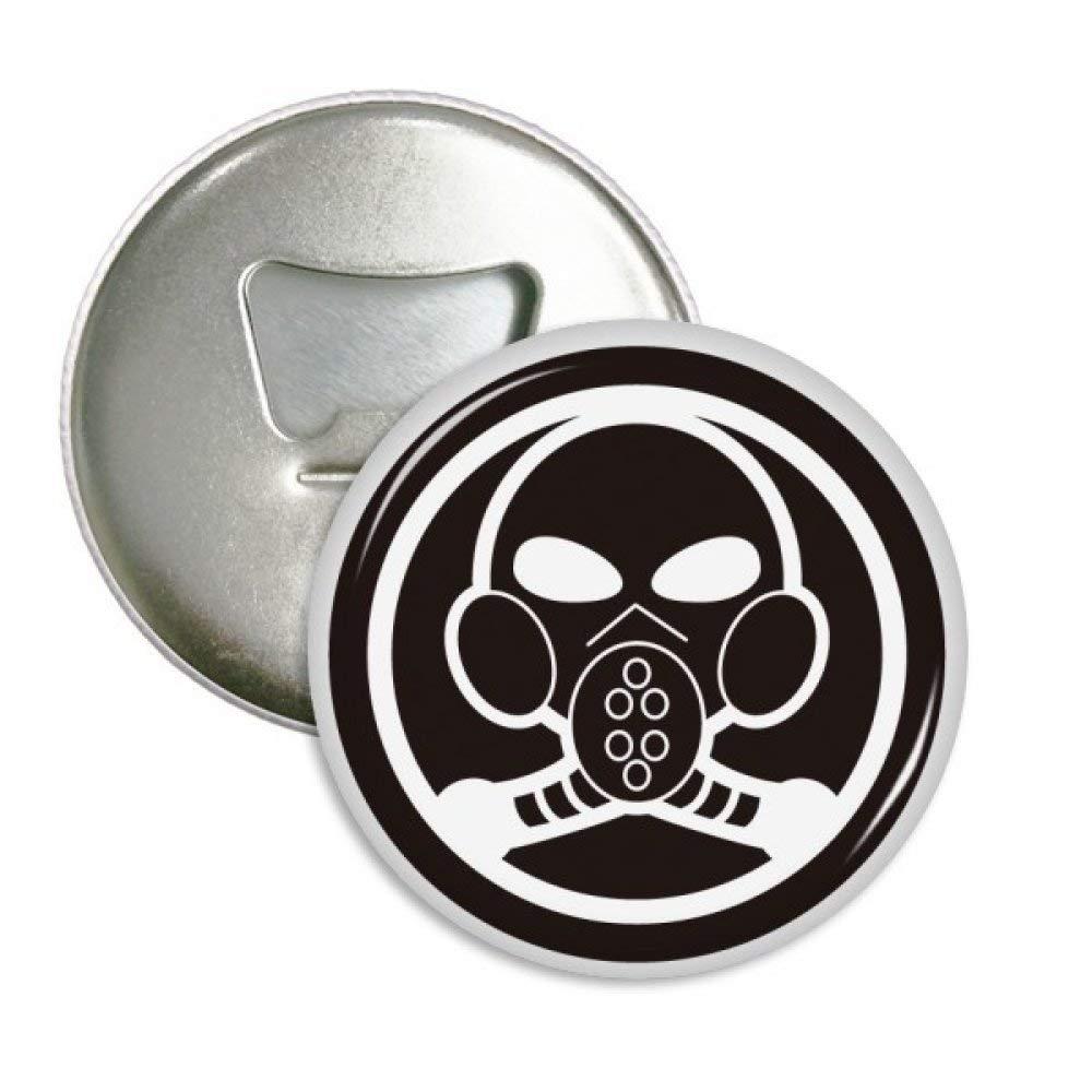 Contaminación del aire blanco negro máscara de gas redondo abridor ...