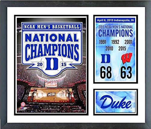 "Duke Blue Devils 2015 NCAA National Champions Photo Collage (Size: 12.5"" x 15.5"") Framed"