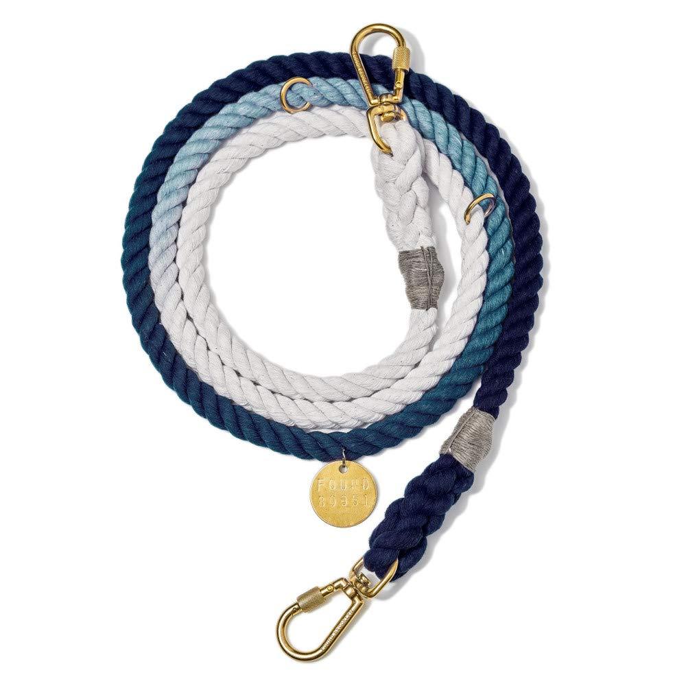 Indigo Ombre Rope Dog Leash, Adjustable Medium