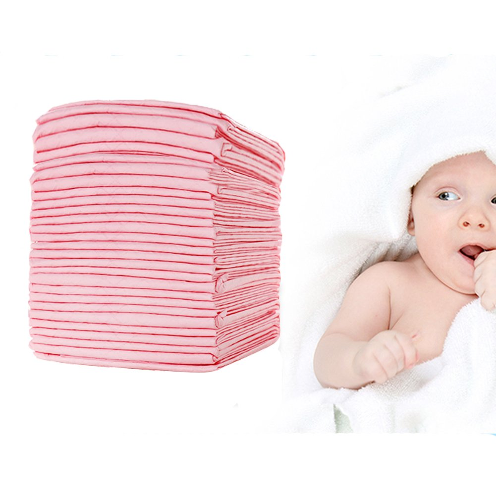 Yoolove Baby Disposable Underpads 30 Pack ,Portable Diaper Changing Table & Mat, Breathable Care Pads Waterproof Absorbent Bed Protection 17.7 ''X 23.6''[45cm X 60cm]