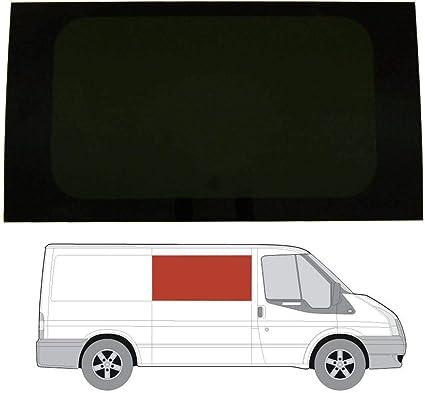 Mano derecha, tintado oscuro fijo ventana para Ford Transit MK6/7 (00 – 13) [SWB] Panel lateral contrario puerta corredera: Amazon.es: Coche y moto