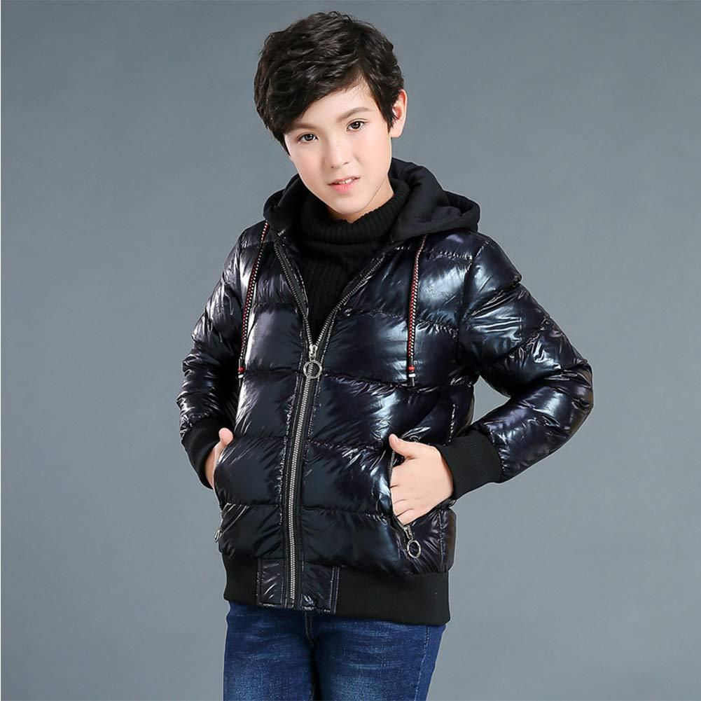 SXSHUN Bambino Giacca Impermeabile Invernale Snow Jacket Cappotto da Neve Imbottito in Cotone con Cappuccio Staccabile