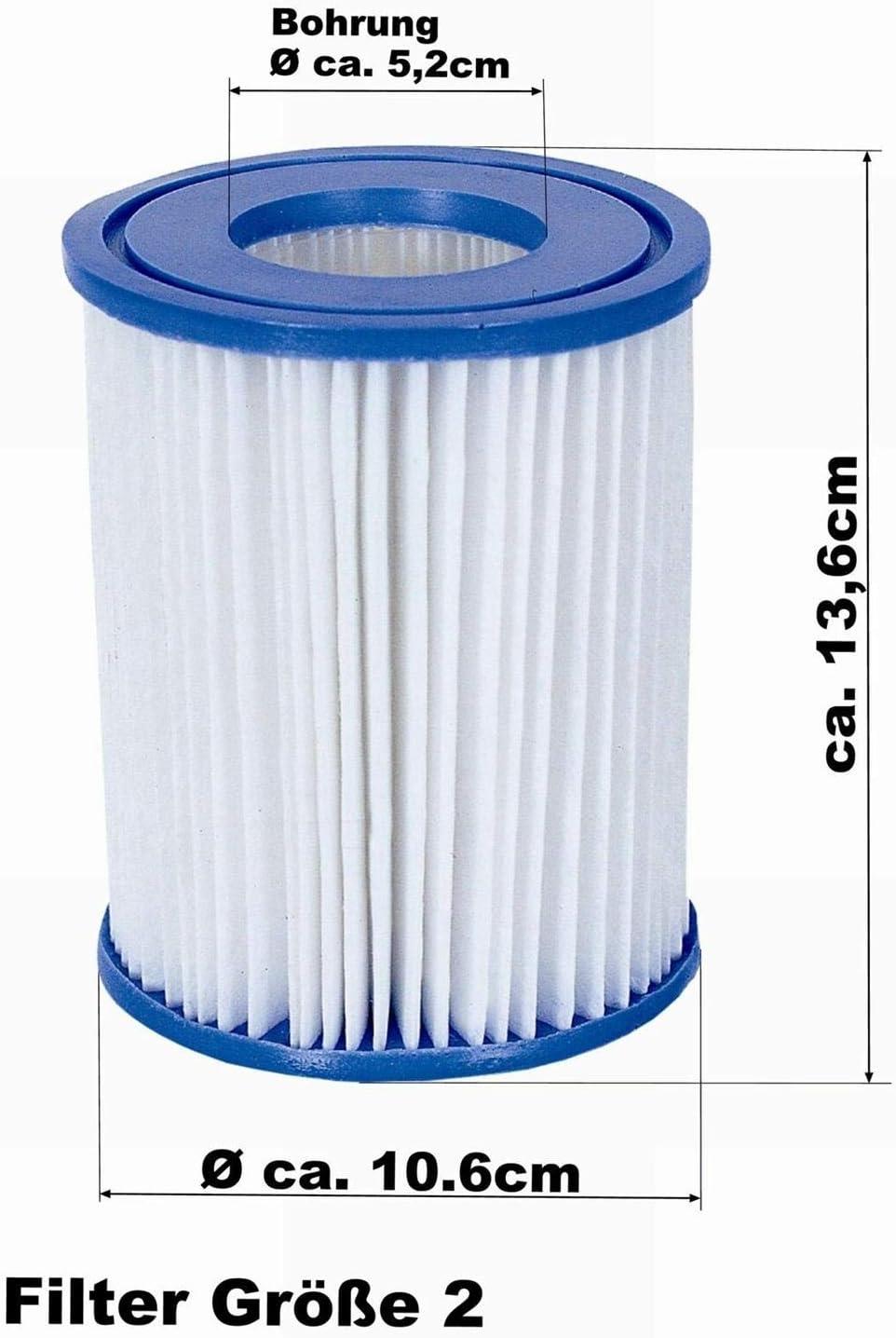 Bestway Global Holding Inc 6 x set of 2 size II diameter 10.6 cm x 13.6 cm 12 filter cartridges