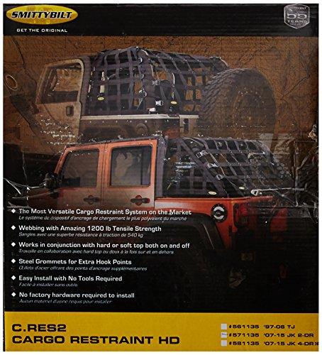 Smittybilt 571135 C-RES '2 HD' Trail Net (Jeep Wrangler Net Top)