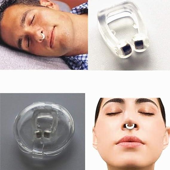 Anti Ronquidos Clip de Nariz de Silicona Parada Magnética Ronquidos Clips de Nariz Dispositivo de Ayuda para Dormir Apnea Anti-ronquidos: Amazon.es: Hogar