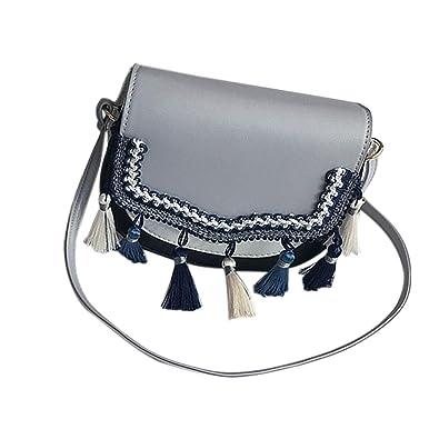 efdbae38d1d8 Amazon.com: Casual Summer Vintage Crossbody Bag Women Solid Leather ...