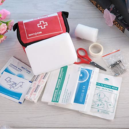 Jimfoty Mini botiquín de Primeros Auxilios, Estuche de Emergencia portátil, 5.5 x 3.1 x 2.4 Pulgadas para el hogar Escolar: Amazon.es: Hogar