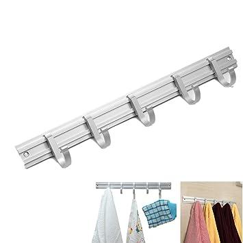 Ganchos Percheros Cokira Gancho de pared con 5 Ganchos Porta-toallas para torres ropa y llaves: Amazon.es: Hogar