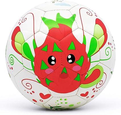 Children Soccer Ball,PVC Soft Flexible Cute Cartoon Toddler Training Soccer Ball Outdoor Sport Size 2 Exercise Sports Soccer Ball Toy Christmas Birthday Gift for Kids,Orange Tiger